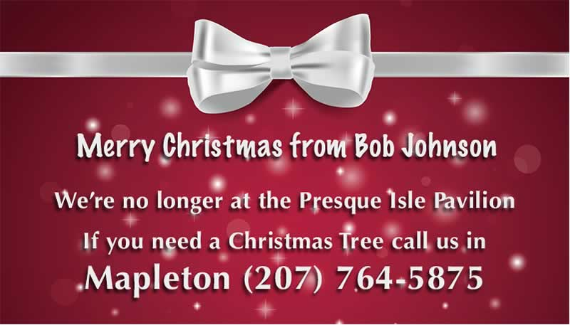 Christmas Trees for Sale Mapelton Maine