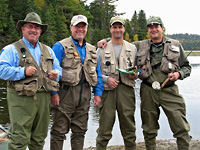 Fly fishing buddies at Allagash Lodge